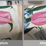 GUCCIのスカーフ 十数年前の変色修正