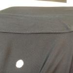 着物の衿にファンデーションの汚れ