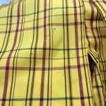 子供の着物の袖部分に付いた墨汁のシミ