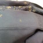 着物の裾にカビによる脱色