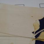 着物の衿にあった古いシミの除去