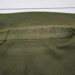綿のジャケットの衿が脱色