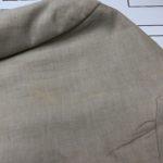 麻ジャケットの肩の部分が変色!