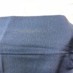 着物の衿、変色の修正