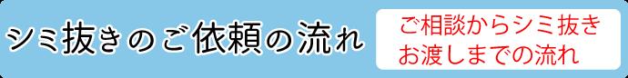 須坂市シミ抜きの依頼の流れ