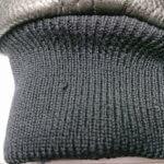 革ジャンパー、リブ部分の穴修理