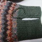 セーターの袖口、ほつれ修理